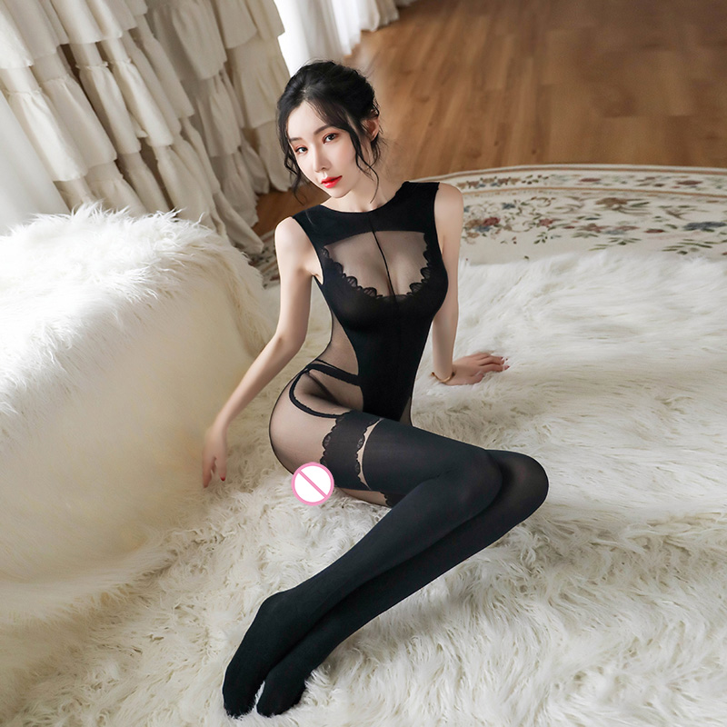 Sexy Lingerie Hot Erotic Silk Bodystocking Bodysuits Sex Tights For Women Open Crotch Plus Size Babydolls Underwear Stockings