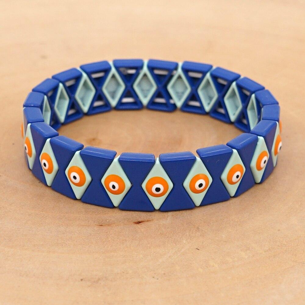Shinus ename telha pulseira masculino mau olho pulsera mujer 2019 feminino braçadeira jóias olho turco pulseiras bileklik artesanal pulseiras