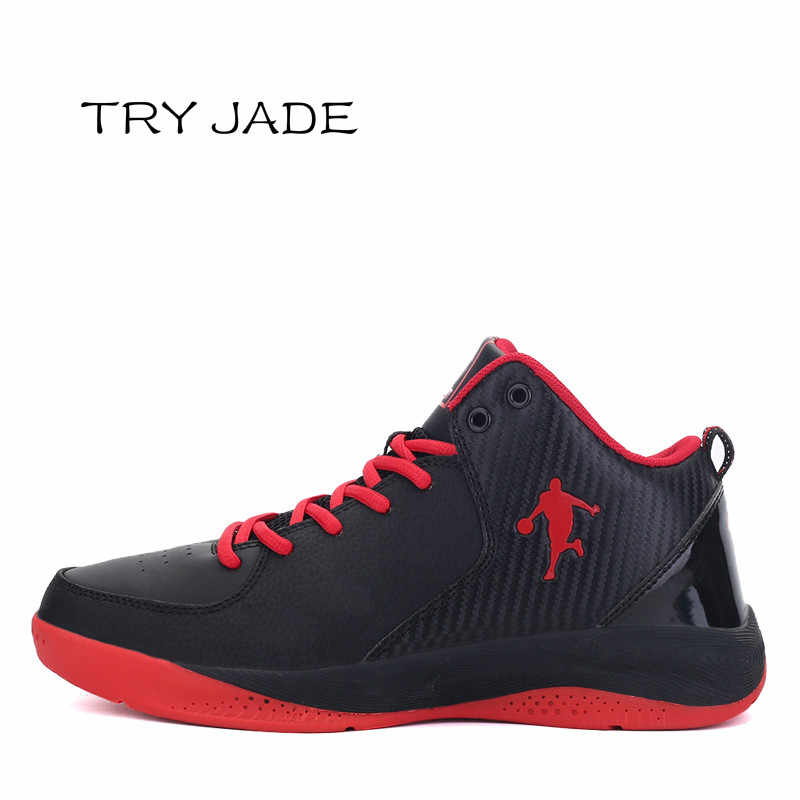 2019 New High Top Basketball Shoes Men Jordan Black Sneakers Gym Trainers Anti-slip Ankle Boost Basket Homme Tenis Masculino