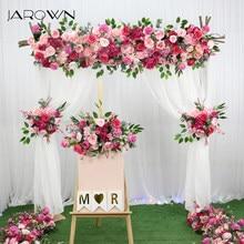 Jarown personalizar casamento artificial flor linha rosa vermelho floral pequeno canto flor conjunto casamento proposta festa fundo decoração