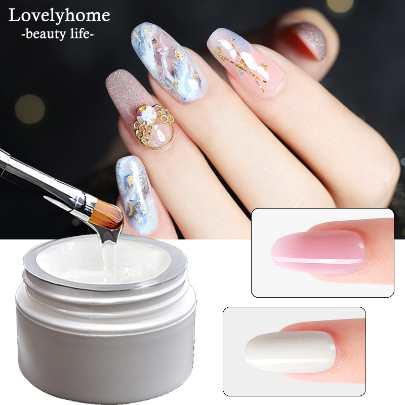 Nail Extension Gel 3 Colors UV Builder Poly Gel Varnish Quick Finger Form Extensions Kits Transparent French Nail Art Tools