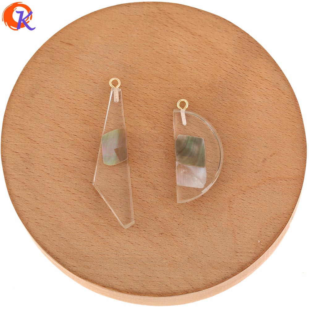 Image 2 - Cordial Design 50Pcs Jewelry Accessories/Pendant/Hand Made/Natural Shell In Resin/DIY Jewelry Making/Charms/Earrings FindingsBeads   -