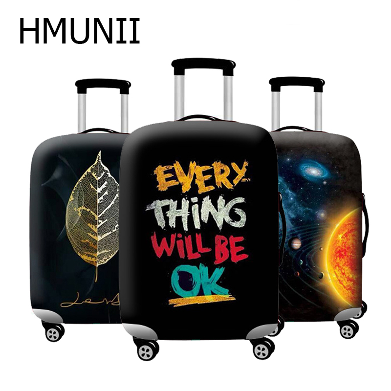 HMUNII Brand Thicker Travel Suitcase Protective Cover  Elastic Luggage Dust Cover Luggage Case Travel Accessories