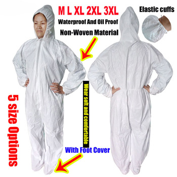 1422a dupont tyvek protective clothing coverall disposable antistatic non linting chemical work clothes anti dust splash Disposable Protection Gown Dust Spray Suit Siamese Non-woven Dust-proof Anti Splash Clothing Safely Protection Clothes