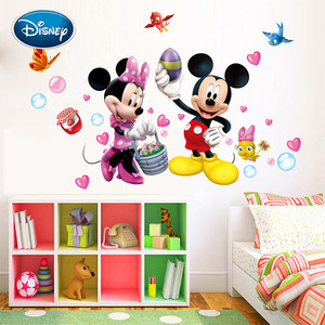 Disney nowy śliczne Myszka Mickey dla dzieci pokój sypialnia dekoracji przedszkole śliczne naklejki ścienne mogą być usunięte