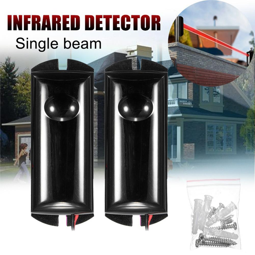 Single Beam Infrared Detector Alarm Barrier Sensor Photoelectric Home Security
