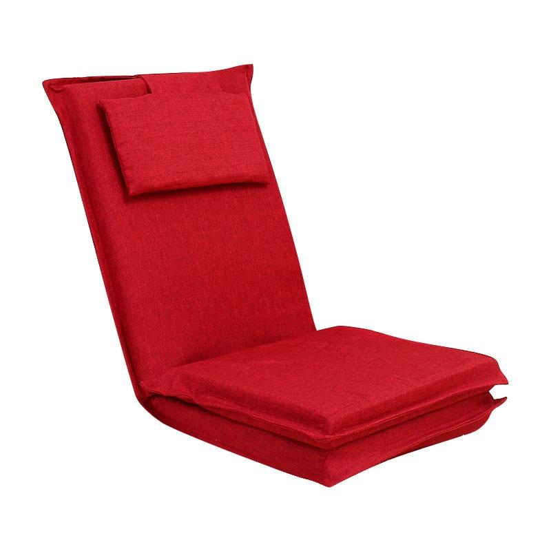 Extended back a beanbag tatami folding Japanese single sofa bed wave window seat