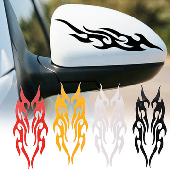 1pc Vinyl Covers Auto Flame Fire Sticker Car-styling Universal Car Sticker Styling Engine Hood Motorcycle Decal Decor image
