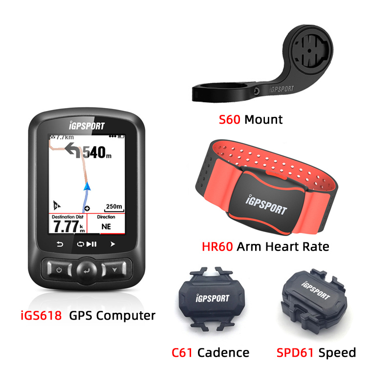IGPSPORT ANT+ <font><b>GPS</b></font> IGS618 <font><b>Bike</b></font> Bicycle Bluetooth Wireless Stopwatch Speedometer Waterproof IPX7 Cycling <font><b>Bike</b></font> Speedometer <font><b>Comput</b></font> image
