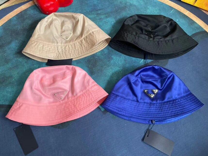 2020 New Style Luxury Bucket Hats Women Fashion Brand Designer Basin Hat Nylon Sun Cap Black Outdoor Travel Hat Men