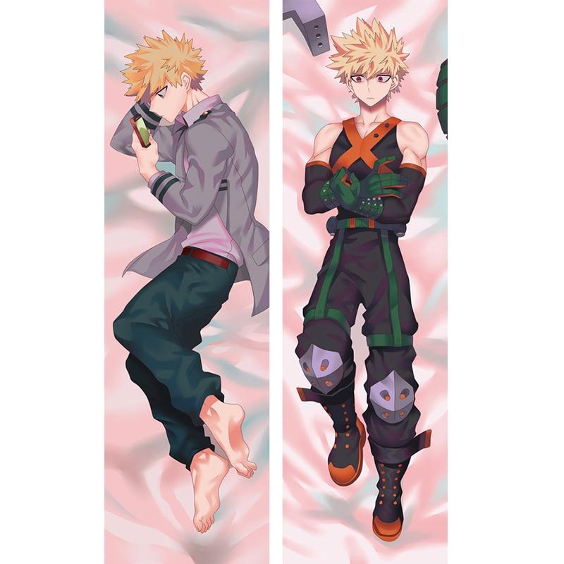 Anime My Hero Academia Katsuki Bakugou Dakimakura Hugging Body Pillow Case Custom DIY Cushion Fujoshi BL Cosplay Costume Cover