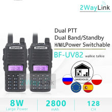 2Pcs UV-82 8W Walkie Talkie 10Km Baofeng Radio Talkie Vhf Uhf 8W Ham Radio UV-82 Amador walky Talky Baofeng Uv 82 UV82 Oortelefoon(China)