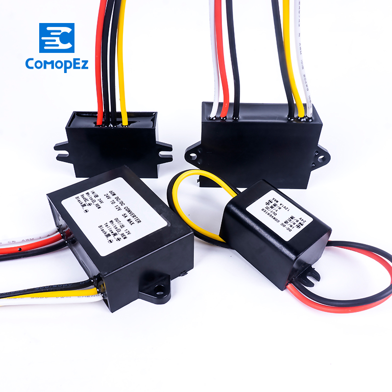DC Voltage Converter <font><b>24V</b></font> <font><b>to</b></font> <font><b>12V</b></font> 1.5A 2A 3A 5A 8A 10A 12A 15A 20A 30A <font><b>40A</b></font> Waterproof Buck Step Down Regulator Power DC Converters image