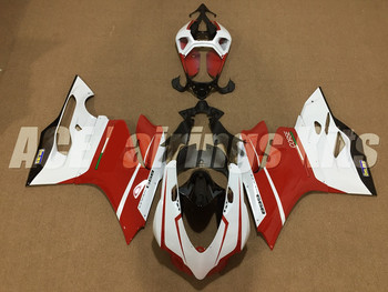 New ABS Injection Mold Body set Fairing For Ducati 899 1199 Panigale 2012 2013 2014 Motorcycle Full Fairings Kit Red white