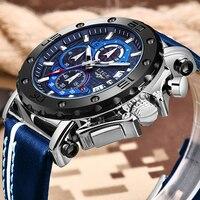 2020 LIGE nowe męskie zegarki Top marka luksusowe duże Dial wojskowy zegarek kwarcowy skórzany wodoodporny sportowy zegarek Relogio Masculino