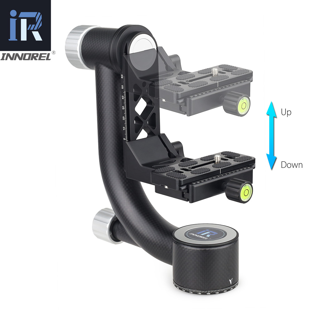 Image 4 - INNOREL CH5 Tripod Head QR Plate Carbon Fiber Gimbal for Telephoto Lens 720°Rotation High Precision CNCTripod Heads   -