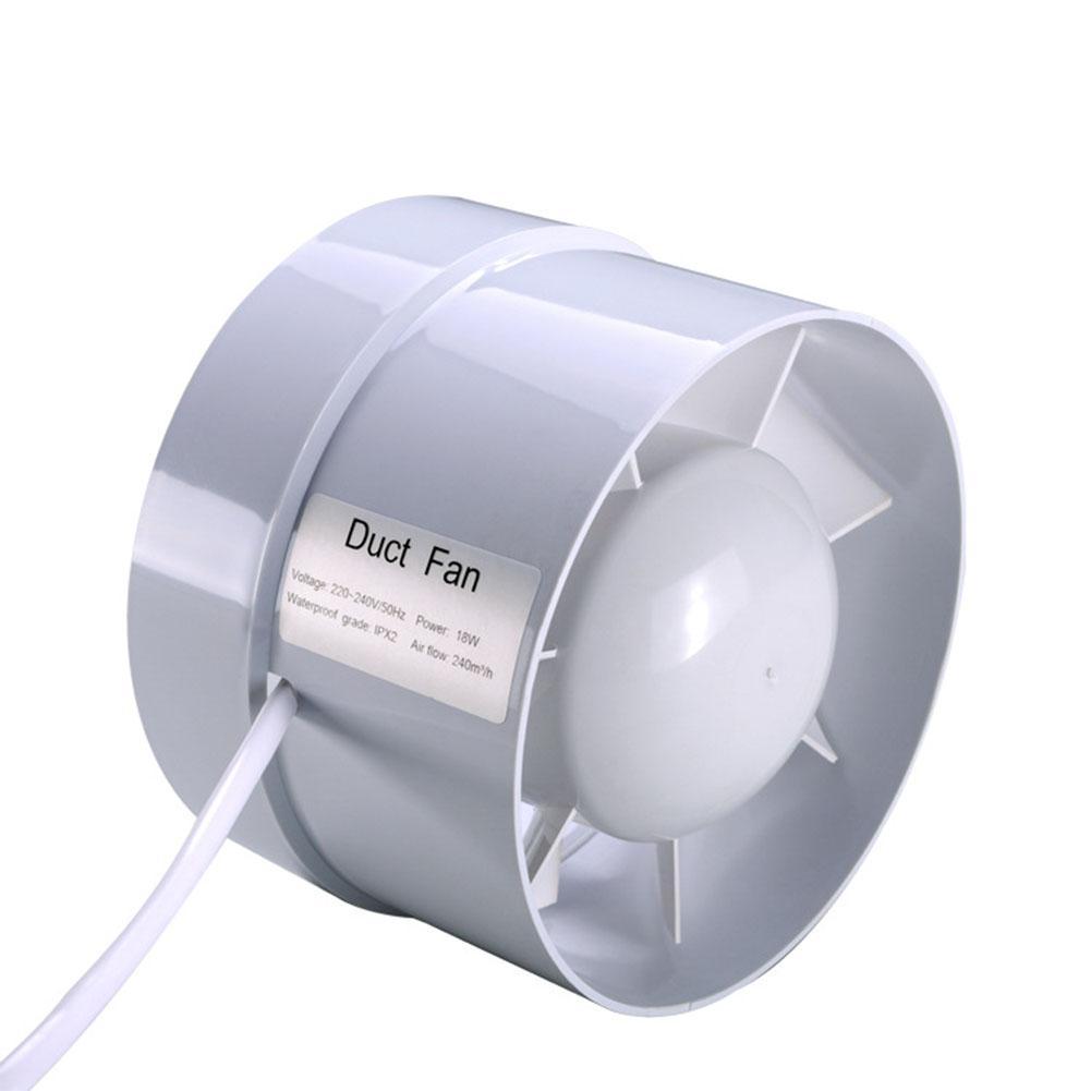 Kuulee 4 Inch Mini Fan Inline Duct Fan Ceiling Ventilation Pipe Exhaust Fan Extractor Fan For Bathroom Ventilator 100mm 220V