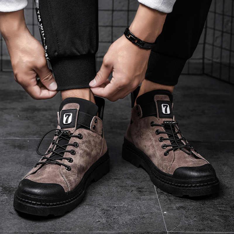 Maschio Scarpe Per Adulti Della Caviglia Stivali Per Stivali Militari Stivali Da Uomo In Pelle Scarpe Inverno Scarpe Da Tennis Degli Uomini di Inverno Degli Uomini 39 S scarpe Da uomo