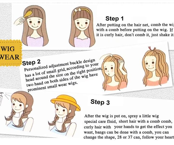 t parte perucas para mulheres japão fibra