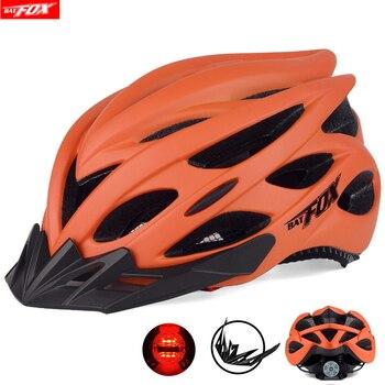 Casco de bicicleta BATFOX ultraligero 201g MTB, casco de ciclismo para hombre...