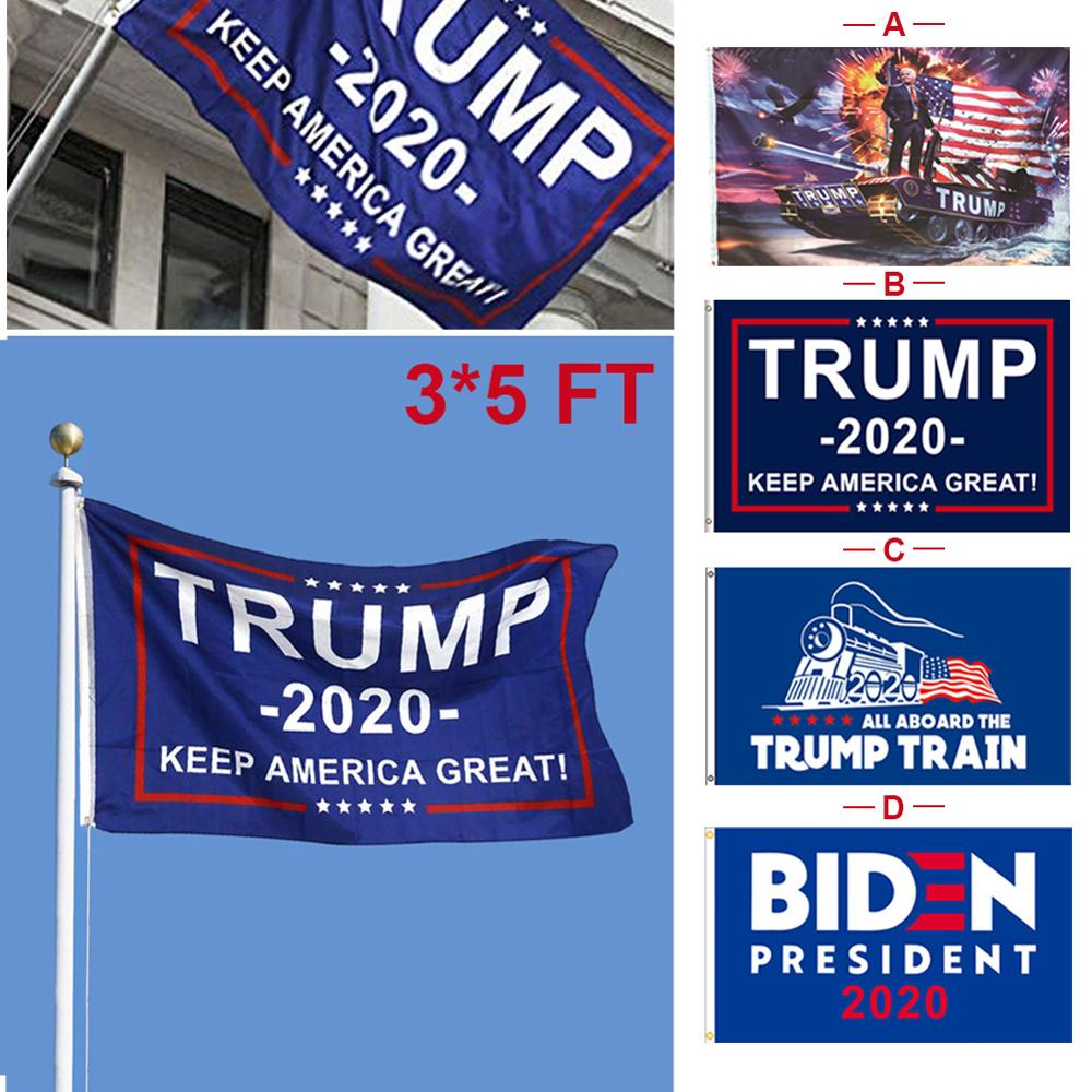 Donald <font><b>Trump</b></font> for President <font><b>2020</b></font> Keep America Great Flag Garden Banner 3x5ft image