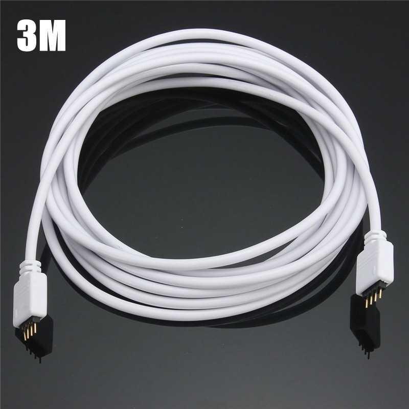 4Pin RGB złącze led przedłużacz kabel 30/50/100/200/300/500cm + 4pin złącza dla SMD 5050 3528 listwy RGB led światła