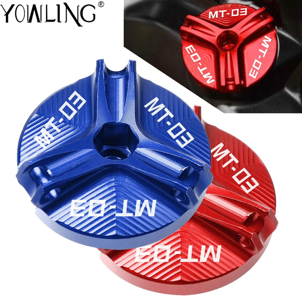 M20*2.5 Motorcycle Engine Oil Filter Cup Plug Cover Screw motor accessories For yamaha <font><b>MT</b></font>-<font><b>03</b></font> MT03 <font><b>MT</b></font> <font><b>03</b></font> 2014 2015 2016 2017 <font><b>2018</b></font> image