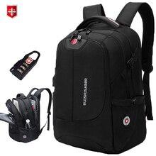 Рюкзак для ноутбука 17 дюймов с USB-зарядкой для мужчин и женщин, брендовый дорожный школьный ранец, нейлоновые Водонепроницаемые рюкзаки