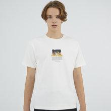 Мужская Повседневная модная футболка с простым рисунком белая