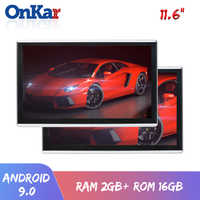 ONKAR Android 9.0 headrest monitor with 11.6 inch IPS touch screen 1920*1080 1080P support mirror link wifi FM radio SD HDMI