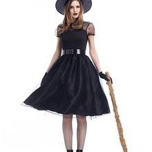 Хэллоуин Косплей Костюм для ведьмы Призрак с шляпой черные Косплей Платья