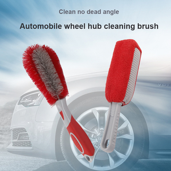 Car Wheel Brush Rim Cleaning Tool Car Tire Cleaning Brush Black Car Repair And Maintenance Auto Parts Sponges Brushes image