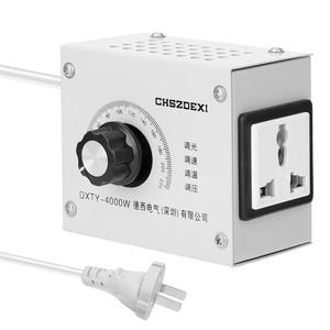 Image 4 - Regulador de voltagem variável compacto, regulador de temperatura de velocidade portátil, ajustável, tensão, transformator 220v 12v
