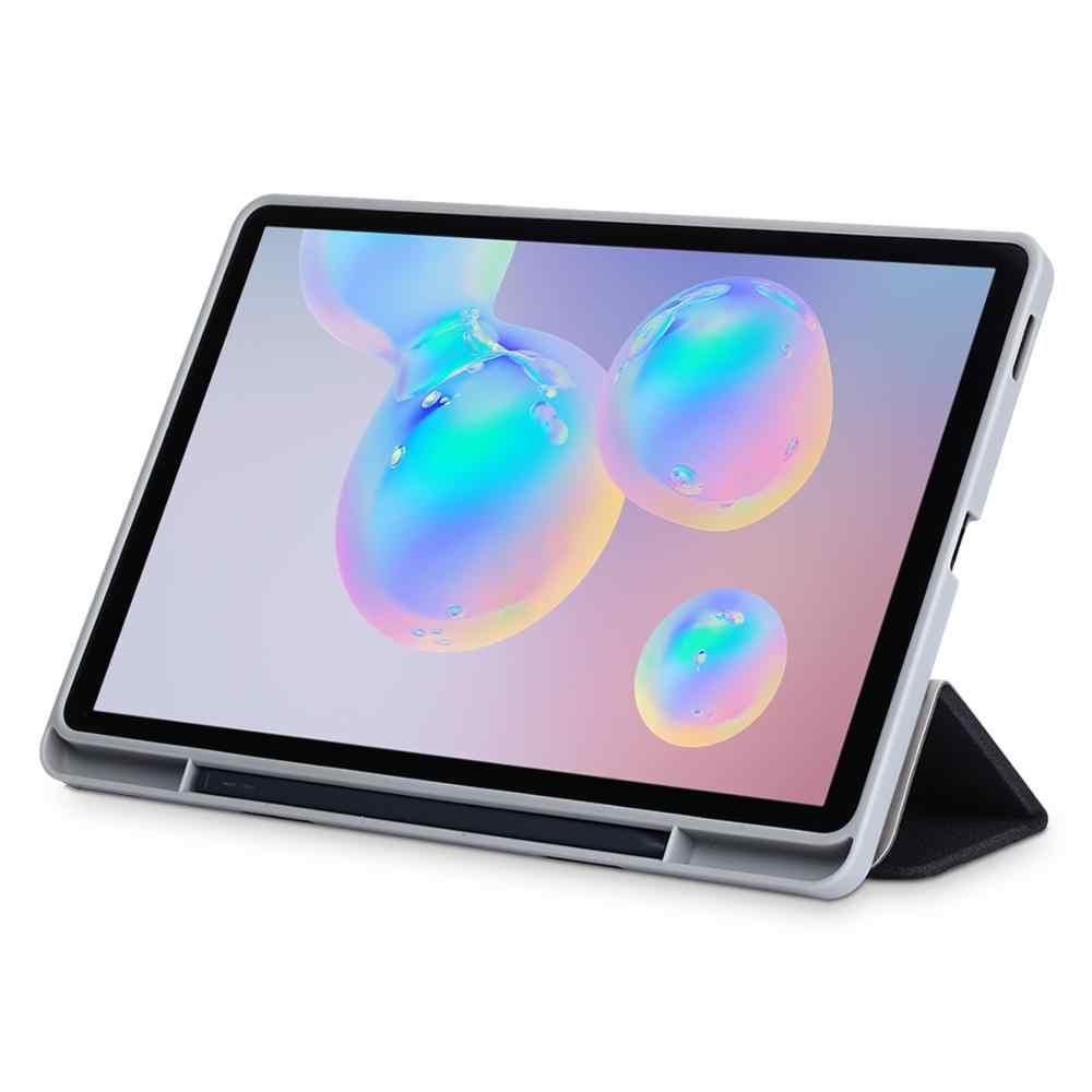 สนับสนุนด้านข้างปากกาสล็อตTPUรถกรณีสายสำหรับSM-P610/P615 2020แท็บเล็ตสำหรับSamsung Galaxy tab S6 Lite 10.4กรณี