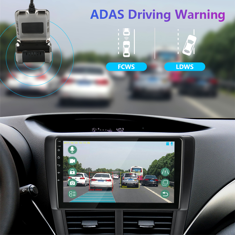 JMCQ USB ADAS Car DVR Dash Cam Full HD For Car DVD Android Player Navigation Floating Window Display LDWS G-Shock 2
