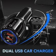 Авто Quick Charge на 2-портный Dual USB Порты и разъёмы для быстрого автомобильного Зарядное устройство для VW Golf Bora Jetta POLO GOLF Passat CC Skoda Octavia A5 A7 Fabia сиденье