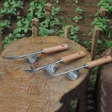 Narzędzia do pielenia ogrodu narzędzia do ręcznego pielenia z ergonomiczny uchwyt na trawnik ogrodowy narzędzia do przeszczepu ogrodnictwa Bonsai narzędzia widelec tanie tanio Silikonowe