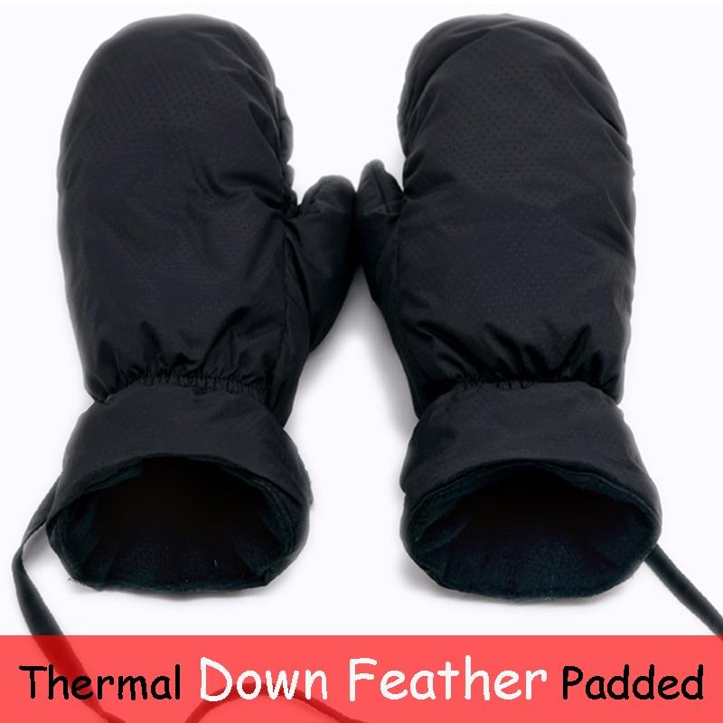 Пуховые перчатки, теплые перчатки для сноуборда и лыж, мужские и женские зимние теплые варежки для снега, горного лыжа, снегохода, длинные ре...