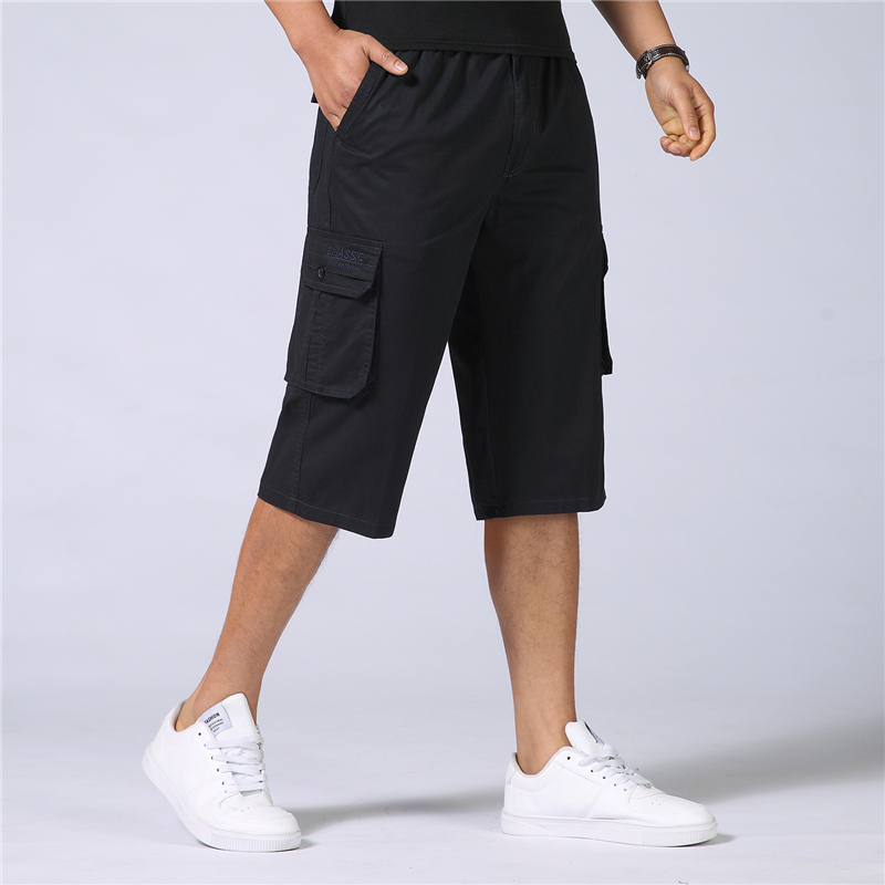 Summer Military Cargo Shorts Men Baggy Multi-Pocket Casual Cotton Loose Shorts Male Army Tactical Short Men Plus Size 5XL 7XL