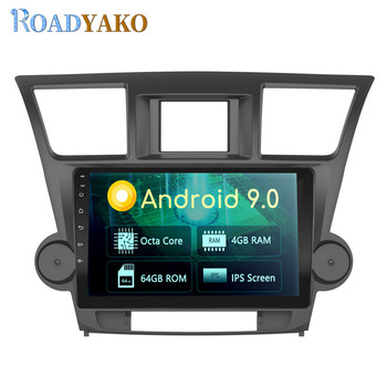 10.1'' Android Auto Car Radio Navigation GPS For Toyota Highlander Kluger 2009-2014 Stereo Car Harness Multimedia system 2 Din image