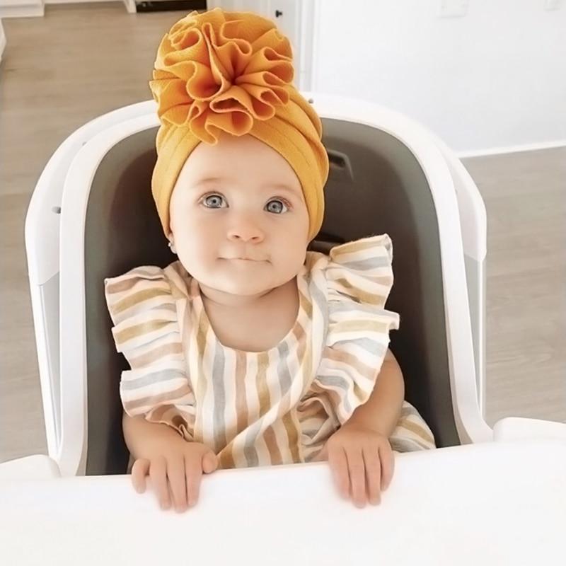 Bel fiore cappello da bambino cappello da bambina morbido turbante primavera neonato bambino berretto da neonato cofano copricapo cappello per bambini berretti 2