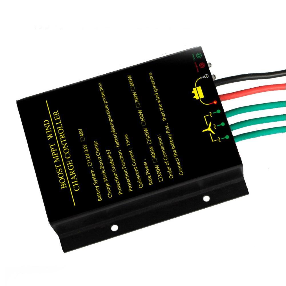 12V 24V 48V Charge Controller Short Circuit Protection Generator Waterproof Regulator Durable Aluminum Portable Wind Power Safe