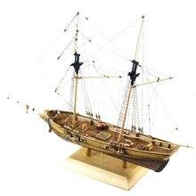 1:70 escala novo porto de madeira modelo de barco à vela 410x60x215mm diy kit navio montagem decoração crianças brinquedos presente