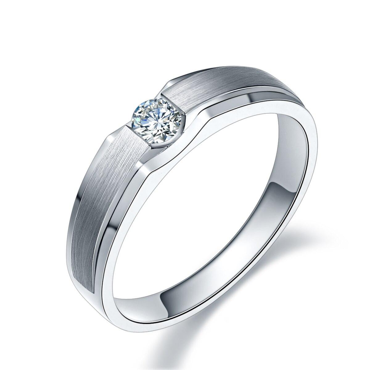 Bague diamant or 18K bague diamant or blanc hommes et femmes mariage proposition Couple bague platine personnalisé