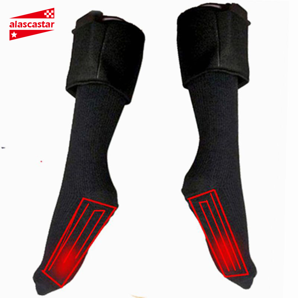 New Winter Heated Sock Electric Heating Socks Infrared Motorcycle Boots Heated Socks USB Outdoor Skiing Cycling Sport Sock #