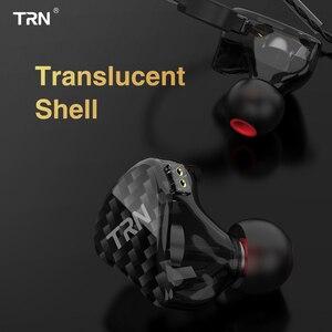 Image 4 - TRN H2 في الأذن سماعة ديناميكية محرك سماعة تشغيل سماعة رياضية باس HIFI ياربود انفصال 2Pin كابل X6 V80 V90 V3