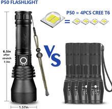Lanternas recarregáveis led lanterna tática alta lumens zoomable 5 modos exibição de energia à prova dwaterproof água ou acampamento caminhadas ao ar livre