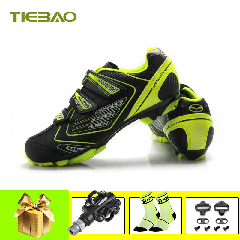 Tiebao sapatilha ciclismo mtb cycling shoes men breathable self-locking mountain bike shoes spd pedals Athletic mtb sneakers