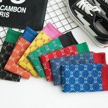 G/весенне-летние детские носки в стиле знаменитостей, стиль, с надписями, филигранные Носки ярких цветов детские носки для мальчиков и девочек