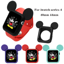 Slim frame Protector cases For apple watch 4 Cute Soft Silicone Cover Full Protection Shell for iwatch 40MM 44MM Watch Bumper